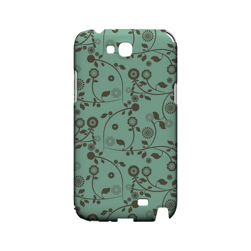 Floral 2 Grayed Jade - Geeks Designer Line Pantone Color Series Hard Case for Samsung Galaxy Note 2