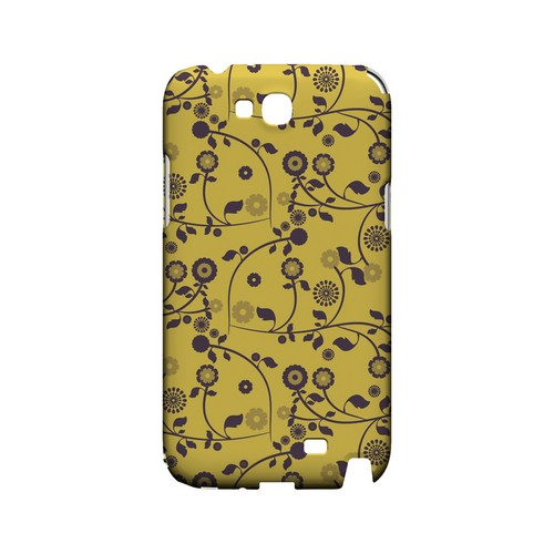 Floral 2 Lemon Zest - Geeks Designer Line Pantone Color Series Hard Case for Samsung Galaxy Note 2