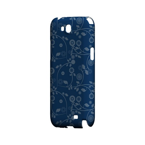 Floral 2 Monaco Blue - Geeks Designer Line Pantone Color Series Hard Case for Samsung Galaxy Note 2