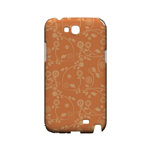 Floral 2 Nectarine - Geeks Designer Line Pantone Color Series Hard Case for Samsung Galaxy Note 2