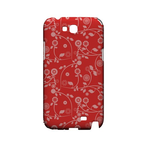 Floral 2 Poppy Red - Geeks Designer Line Pantone Color Series Hard Case for Samsung Galaxy Note 2