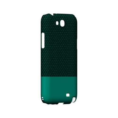 Little Circle Dots Emerald - Geeks Designer Line Pantone Color Series Hard Case for Samsung Galaxy Note 2