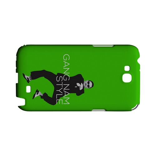 Green Gangnam Style - Geeks Designer Line Slim Back Cover for Samsung Galaxy Note 2