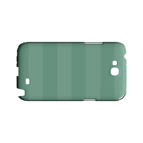 Stripes Grayed Jade - Geeks Designer Line Pantone Color Series Hard Case for Samsung Galaxy Note 2