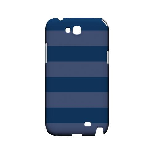 Stripes Monaco Blue - Geeks Designer Line Pantone Color Series Hard Case for Samsung Galaxy Note 2