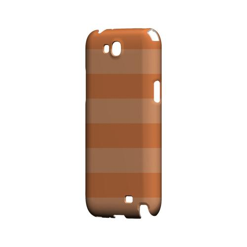 Stripes Nectarine - Geeks Designer Line Pantone Color Series Hard Case for Samsung Galaxy Note 2