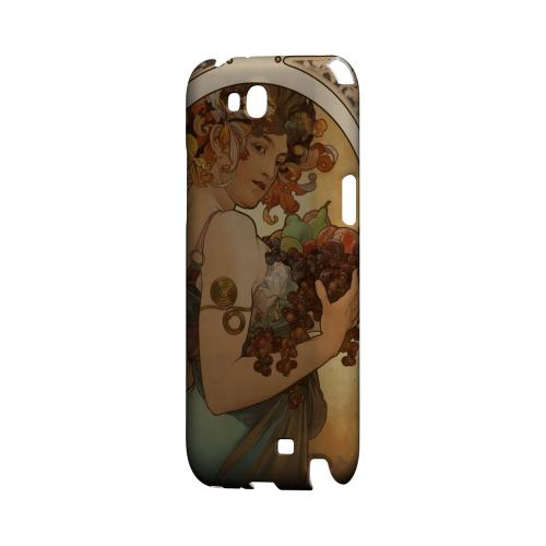 Alphonse Mucha Fruit Geeks Designer Line Artist Series Slim Hard Case for Samsung Galaxy Note 2