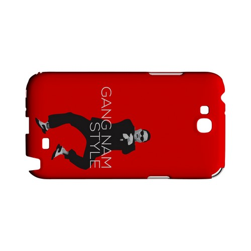 Red Gangnam Style - Geeks Designer Line Slim Back Cover for Samsung Galaxy Note 2