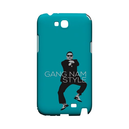 Teal Gangnam Style - Geeks Designer Line Slim Back Cover for Samsung Galaxy Note 2