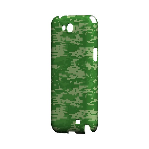 Green Digital Camouflage - Geeks Designer Line Slim Back Cover for Samsung Galaxy Note 2