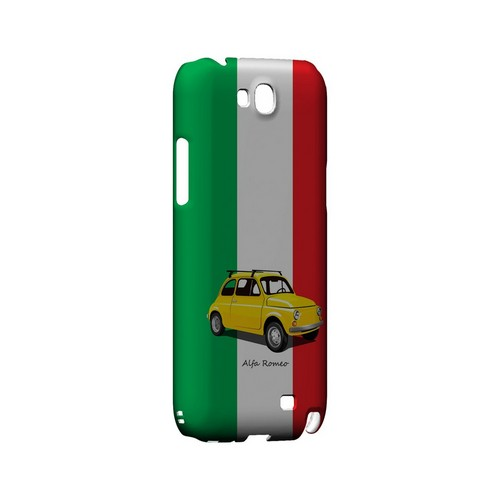 Yellow Alfa Romeo on Green/ White/ Red - Geeks Designer Line Auto Series Hard Case for Samsung Galaxy Note 2