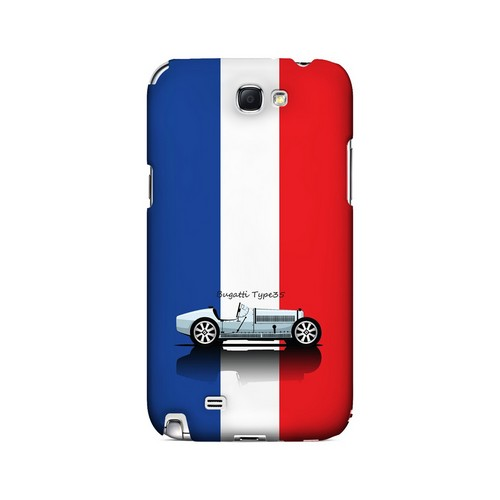 Bugatti Type 35S on Blue/ White/ Red - Geeks Designer Line Auto Series Hard Case for Samsung Galaxy Note 2