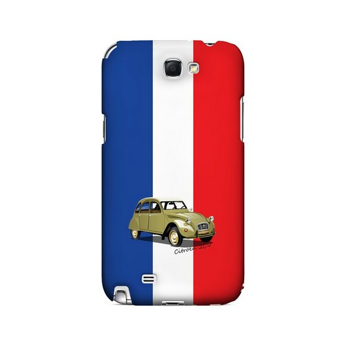 Citroen 2CV on Blue/ White/ Red - Geeks Designer Line Auto Series Hard Case for Samsung Galaxy Note 2