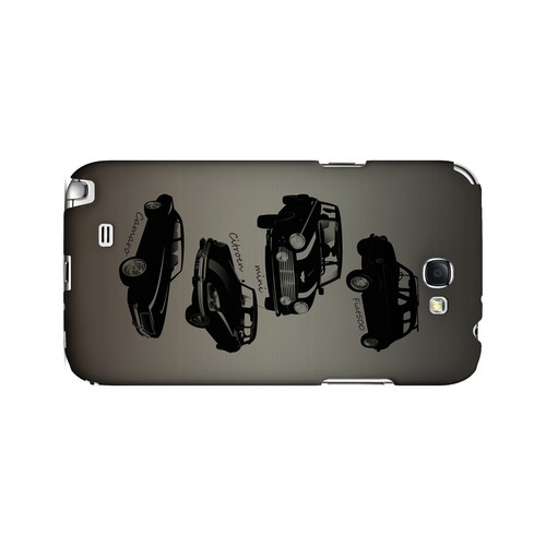Classic Cars Fiat, Mini, Citroen, & Camaro - Geeks Designer Line Auto Series Hard Case for Samsung Galaxy Note 2