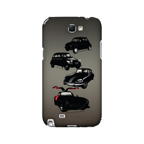 Classic Euro Cars Fade - Geeks Designer Line Auto Series Hard Case for Samsung Galaxy Note 2