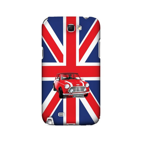 Solo Mini Cooper on Union Jack - Geeks Designer Line Auto Series Hard Case for Samsung Galaxy Note 2