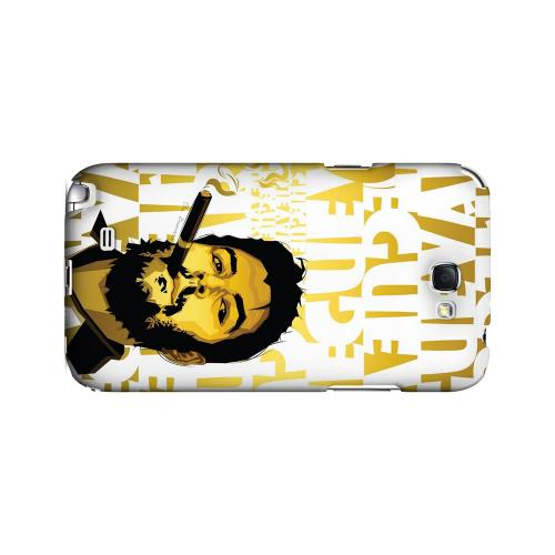 Che Guevara Smoke White Letters on Gold - Geeks Designer Line Revolutionary Series Hard Case for Samsung Galaxy Note 2