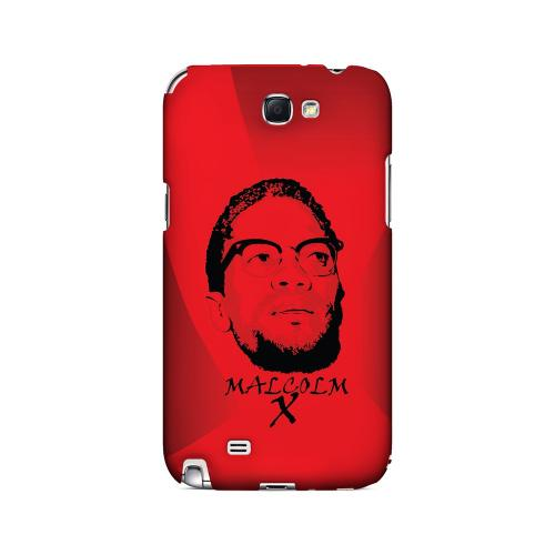 Malcolm X in the Middle on Red - Geeks Designer Line Revolutionary Series Hard Case for Samsung Galaxy Note 2