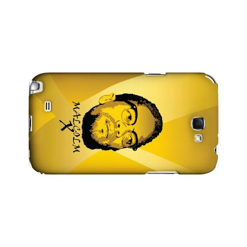 Malcolm X in the Middle on Yellow - Geeks Designer Line Revolutionary Series Hard Case for Samsung Galaxy Note 2