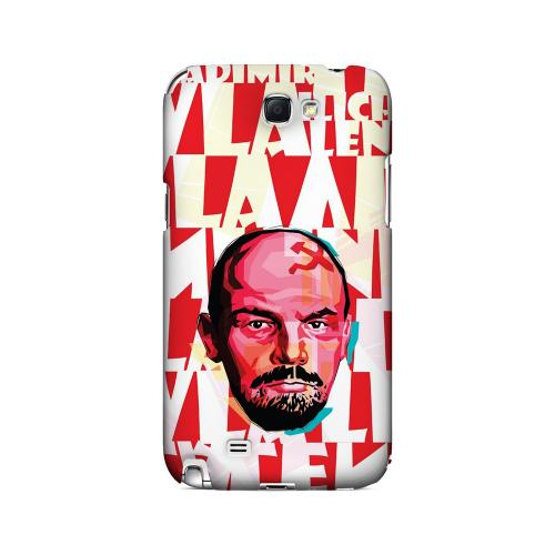 Lenin Complex on Red - Geeks Designer Line Revolutionary Series Hard Case for Samsung Galaxy Note 2
