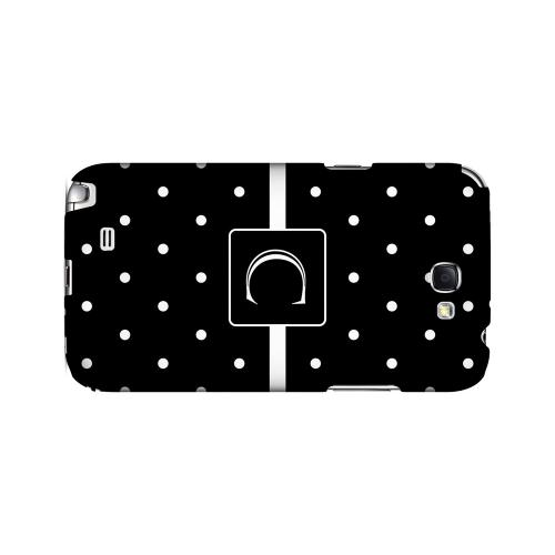 C on Classic Mini Polka Dots - Geeks Designer Line Monogram Series Hard Case for Samsung Galaxy Note 2