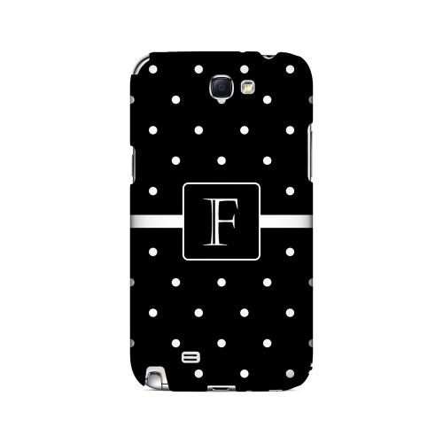 F on Classic Mini Polka Dots - Geeks Designer Line Monogram Series Hard Case for Samsung Galaxy Note 2