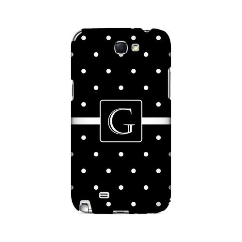 G on Classic Mini Polka Dots - Geeks Designer Line Monogram Series Hard Case for Samsung Galaxy Note 2