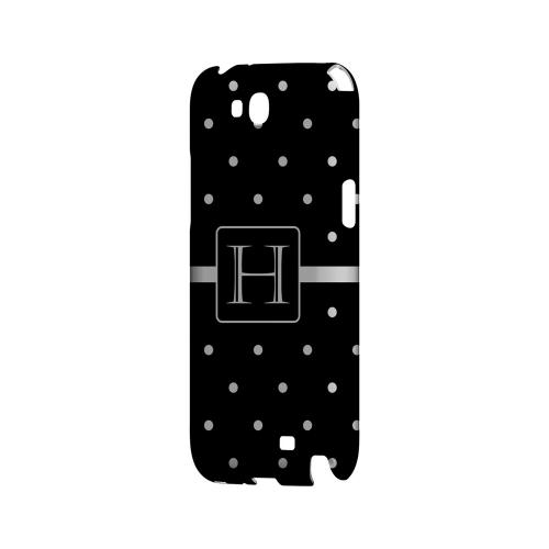 H on Classic Mini Polka Dots - Geeks Designer Line Monogram Series Hard Case for Samsung Galaxy Note 2