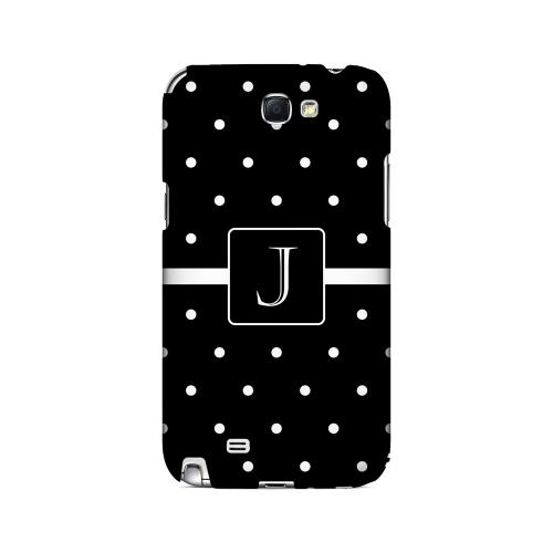 J on Classic Mini Polka Dots - Geeks Designer Line Monogram Series Hard Case for Samsung Galaxy Note 2