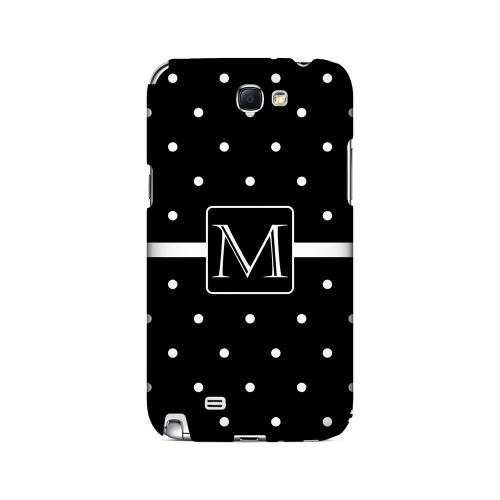 M on Classic Mini Polka Dots - Geeks Designer Line Monogram Series Hard Case for Samsung Galaxy Note 2