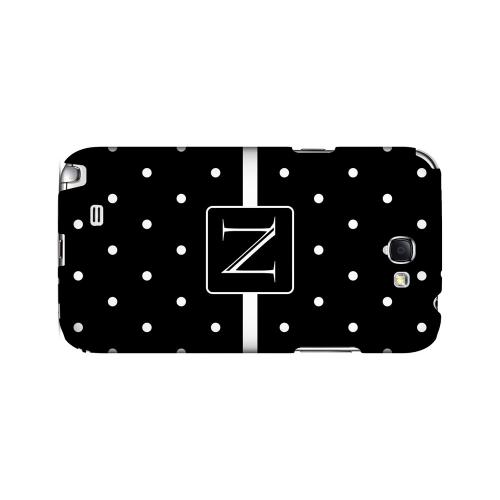 N on Classic Mini Polka Dots - Geeks Designer Line Monogram Series Hard Case for Samsung Galaxy Note 2