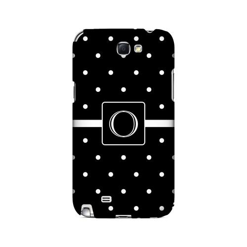 O on Classic Mini Polka Dots - Geeks Designer Line Monogram Series Hard Case for Samsung Galaxy Note 2
