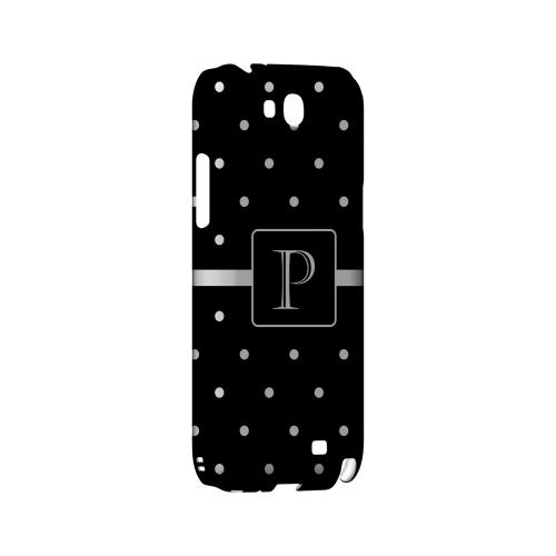 P on Classic Mini Polka Dots - Geeks Designer Line Monogram Series Hard Case for Samsung Galaxy Note 2