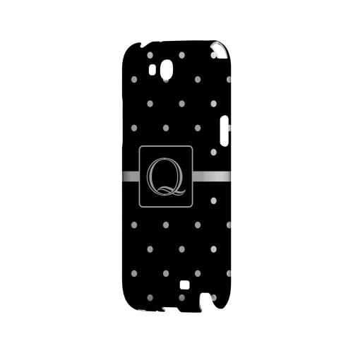 Q on Classic Mini Polka Dots - Geeks Designer Line Monogram Series Hard Case for Samsung Galaxy Note 2