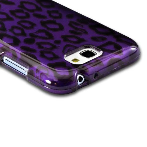 Purple/ Black Leopard Hard Case for Samsung Galaxy Note 2