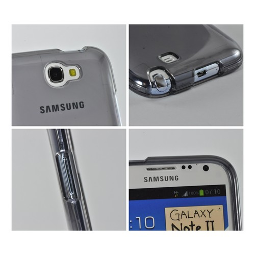Transparent Smoke Hard Case for Samsung Galaxy Note 2