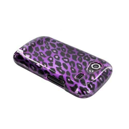 Google Nexus S Hard Case - Purple/ Black Leopard