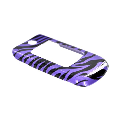 Samsung Contour R250 Hard Case - Purple/Black Zebra