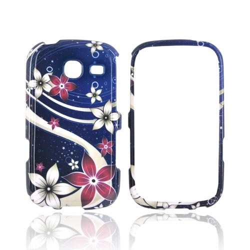 Samsung Freeform 3 Hard Case - Pink/ White Flowers on Blue