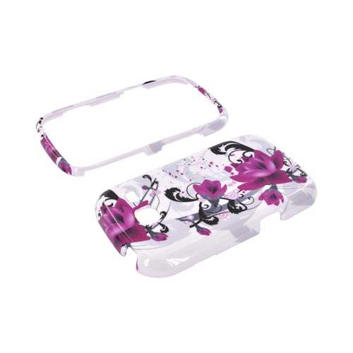 Samsung Freeform 3 Hard Case - Pink Flowers on White