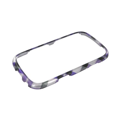 Samsung Freeform 3 Hard Case - Purple/ Green Plaid on Silver