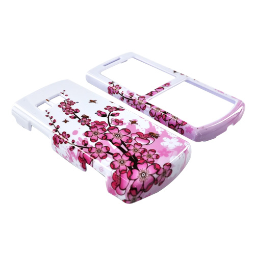 Samsung Messager II R560 Hard Case - Pink Flowers on White