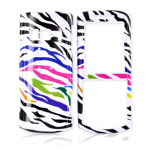 Samsung Messager II R560 Hard Case - Rainbow/Black Zebra on White