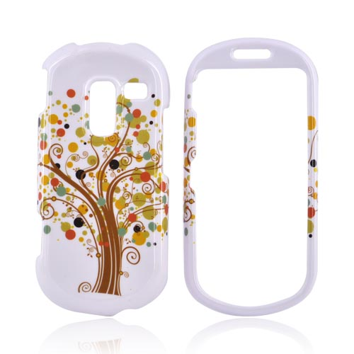 Samsung Messager III R570 Hard Case - Brown Tree on White