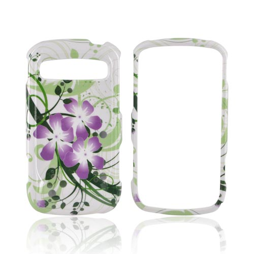 Samsung Rookie R720 Hard Case - Purple Lilly on Green/ Purple