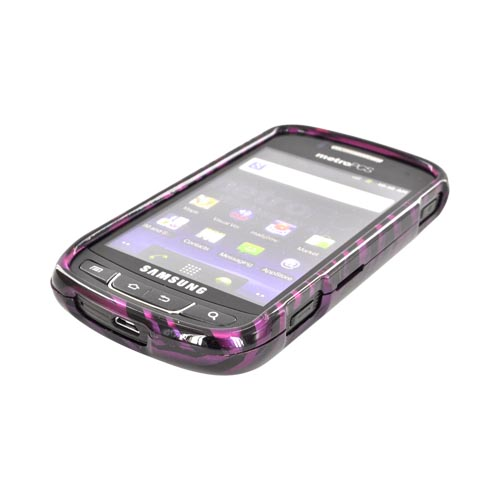 Samsung Rookie R720 Hard Case - Purple/ Black Zebra