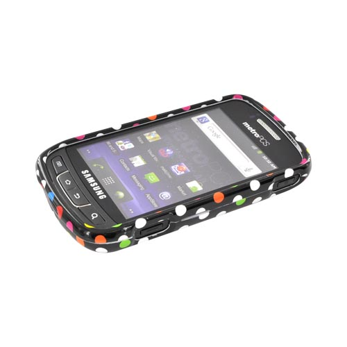 Samsung Rookie R720 Hard Case - Rainbow Polka Dots on Black