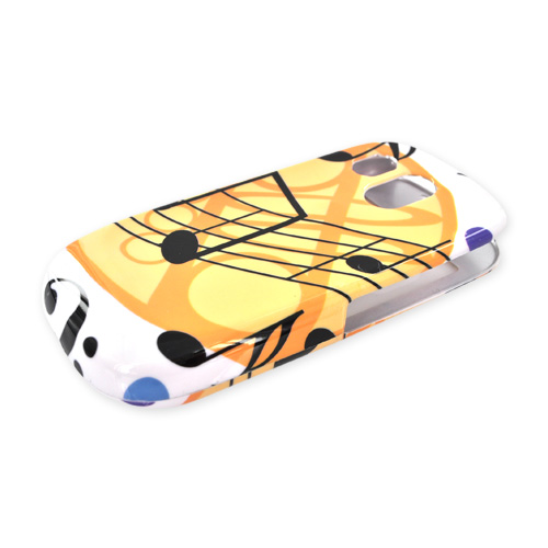 Samsung R860 Hard Case - Musical Note Design on White