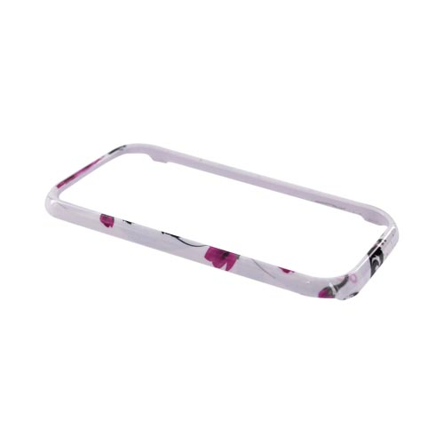 Samsung Galaxy Indulge R910 Hard Case - Pink Flowers on White