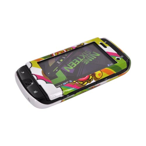Samsung Sidekick 4G Hard Case - Colorful Pirate Bay on White